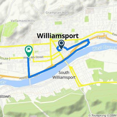 426 Mulberry St, Williamsport to 848 W Fourth St, Williamsport