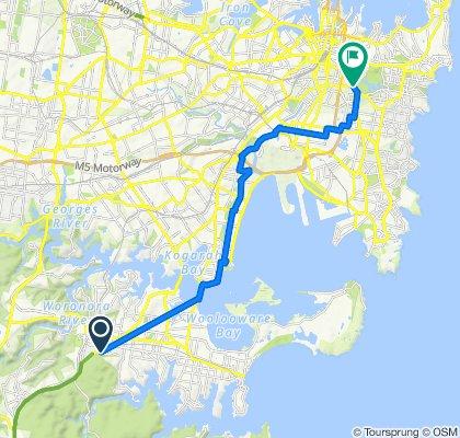 Route to 6 ANZAC Parade, Centennial Park