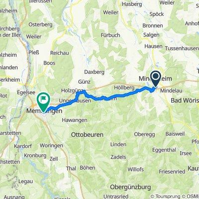 Gernstall 12, Mindelheim nach Rotergasse 3, Memmingen