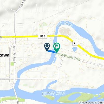 Route from 800 E Superior St, Ottawa