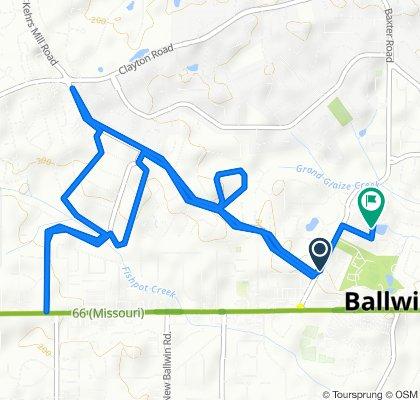 315 Kehrs Mill Bend Ct, Ballwin to 279 Brite Star Ct, Ballwin
