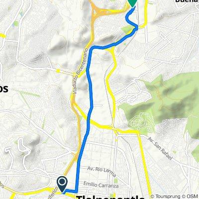 Avenida Mario Colín 110, Tlalnepantla to Calle Playa Larga 8, Cuautitlán Izcalli