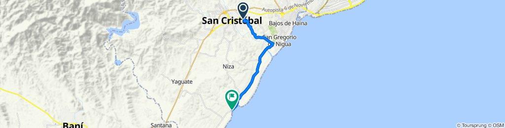 De República Dominicana, San Cristóbal a Unnamed Road