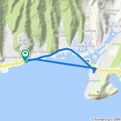 5475 Kalanianaole Hwy, East Honolulu to 5475 Kalanianaole Hwy, East Honolulu