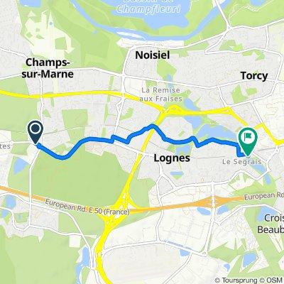 Itinéraire vers 7 Rue Gérard Philipe, Torcy