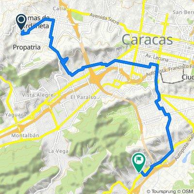 De Calle 1, Caracas a Calle 9, Caracas