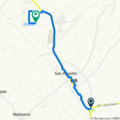 Route from Pili Diversion Road, Pili
