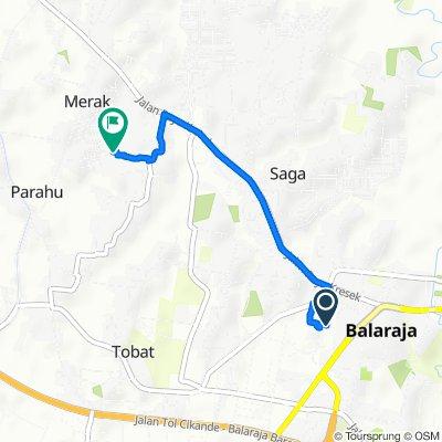 Jalan Lapak Arbain, Kecamatan Balaraja to Jl.Serayu 1, Kecamatan Sukamulya