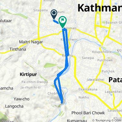 Route from Tahachal Dol Marg, Kathmandu