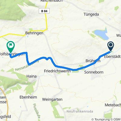Route nach Dorfstraße 3, Hörselberg-Hainich