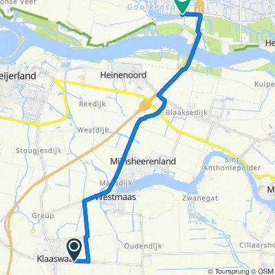 Oud-Cromstrijensedijk OZ 44C, Klaaswaal naar Weerkant 60, Barendrecht
