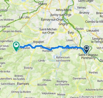 De Chemin des Aulnaies, Saint-Fargeau-Ponthierry à 21 Rue Charles de Gaulle, Saint-Chéron