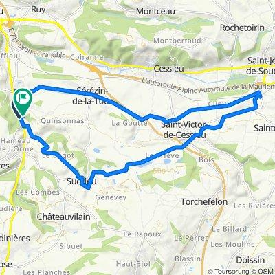 De 3650 Route Départementale 1085, Nivolas-Vermelle à 232–300 Impasse de Curtet, Nivolas-Vermelle