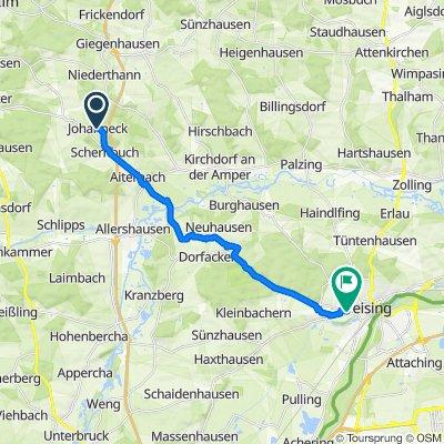 Johannecker Straße 20, Paunzhausen nach St2084 13, Freising