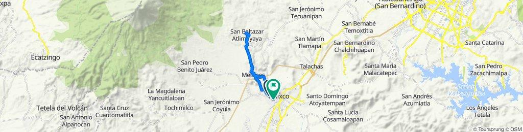 De Avenida Los Volcanes 2905, Atlixco a Calle Artículo 123 1907, Atlixco