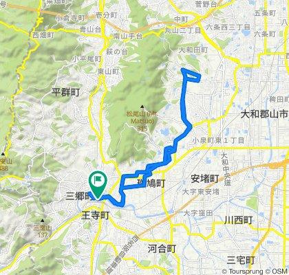 2, Kudo 2-Chōme, Oji-Cho, Kitakatsuragi-Gun to 県道156号, Oji-Cho, Kitakatsuragi-Gun