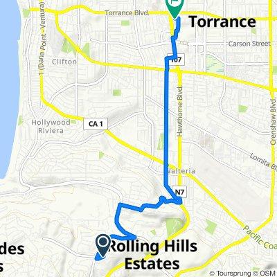 5228 Bluemound Rd, Rolling Hills Estates to 21250 Hawthorne Blvd, Torrance
