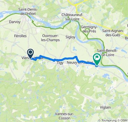 De Route d'Orléans, Vienne-en-Val à 23 Rue du Vieux Port, Guilly