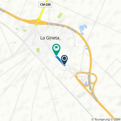 De Calle del Camino Real, 141, La Gineta a Camino Real, 127, La Gineta