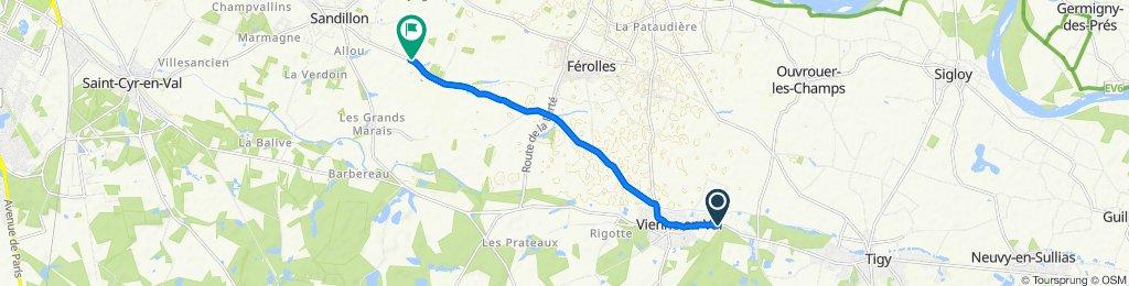 De 36 Rue de Saint-Germain, Vienne-en-Val à Route de Férolles, Sandillon