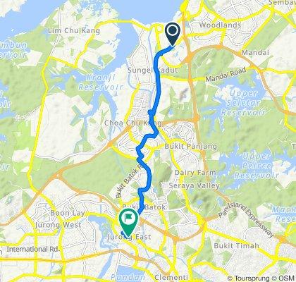 Woodlands Road, Woodlands to 10 Jurong Gateway Road, Jurong