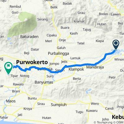 Jalan KH. Ahmad Dahlan, Wanadadi to Unnamed Road, Purwojati