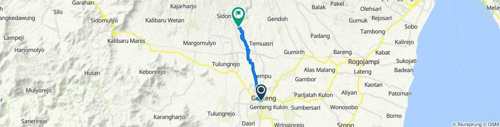 Jalan Kepodang no 5, Kecamatan Genteng to Unnamed Road, Sempu