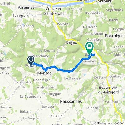 De 55 Ponchet, Monsac à Bannes Sud, Beaumont-du-Périgord