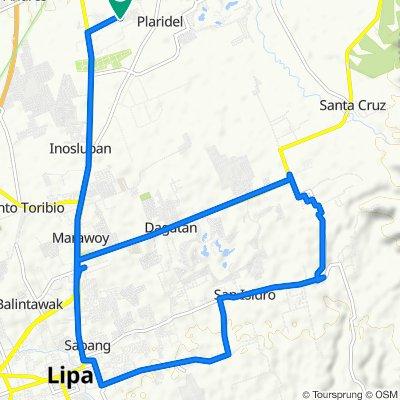 Unnamed Road, Lipa to Unnamed Road, Lipa