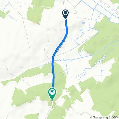 De 16 Route de Poitiers, Lencloître à D757, Thurageau