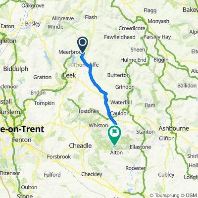 Netherhay, Buxton Road, Leek to Farley Lane, Alton, Stoke-On-Trent