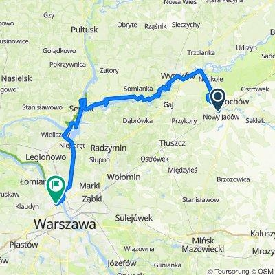 Urle - Wyszków - Serock - Warszawa (rowerem okolice Warszawy)