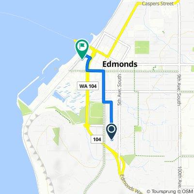 1034 Fourth Ave S, Edmonds to 170 Sunset Ave, Edmonds