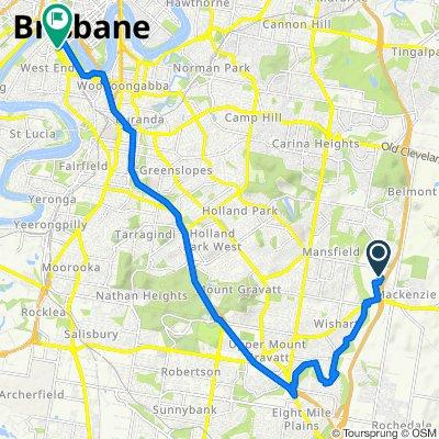 Weedon Street W, Mansfield to 100 Melbourne Street, South Brisbane