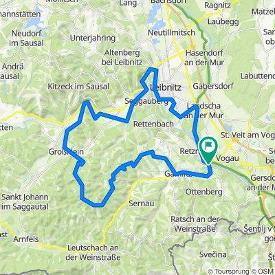 "Cycling for pleasure - Wine Road Tour Variant 1 - ""Kranachberg-Heimschuh"""