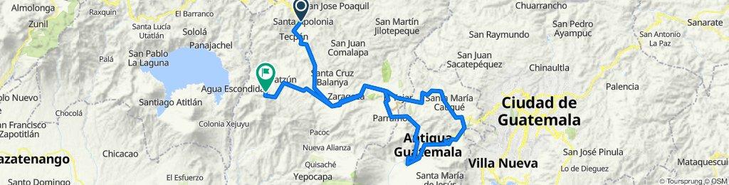 Vuelta a Guatemala inventada etapa 9 Iximche- Altos de Patzun