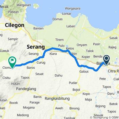 Jalan Raya Serang, Kecamatan Cikupa to Jalan Raya Pasar Ciomas