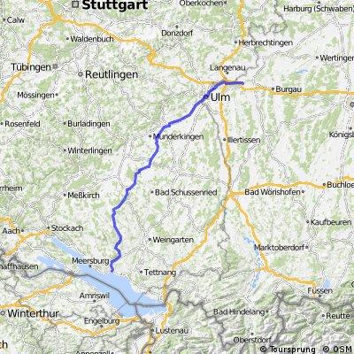 Vom Bodensee nach Ulm