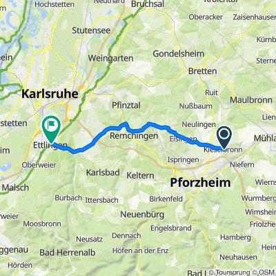 Pforzheimer Straße 9, Kieselbronn nach Marktpassage 3–5, Ettlingen