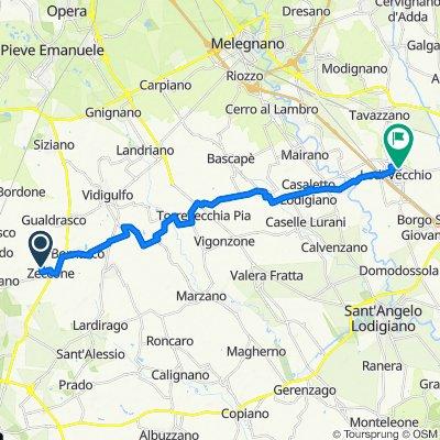 Da Via Torre Civica 3, Zeccone a Via Rodolfo Morandi 14, Lodi Vecchio