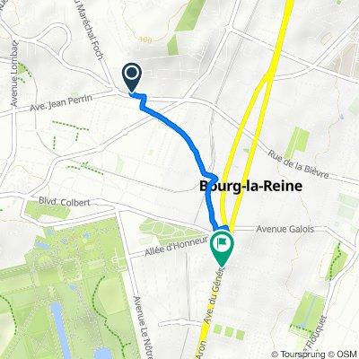 De 96bis Avenue de Bourg-la-Reine, Bagneux à 161–163 Avenue du Général Leclerc, Bourg-la-Reine
