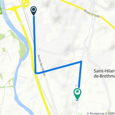 De 1A Lotissement le Pré d'Alès, Saint-Hilaire-de-Brethmas à 527 Rue de Tribies, Saint-Hilaire-de-Brethmas