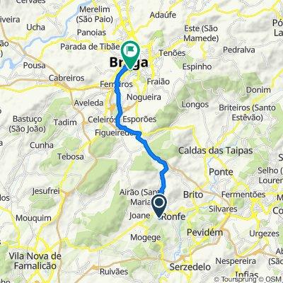 De Rua Monte de Alvar 647, Ronfe a Rua de São Geraldo 97, Braga
