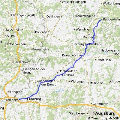 Von Ulm ins Altmühltal
