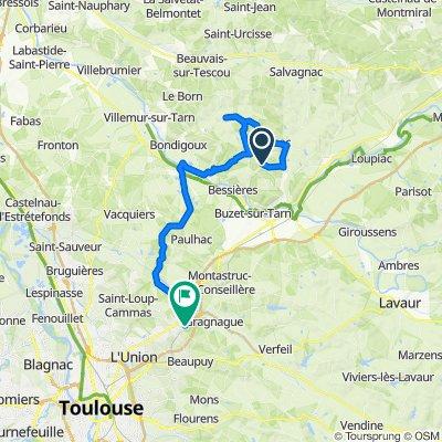 De Plaine du Piboul 5, Roquemaure à Route de Moutou 3bis, Castelmaurou