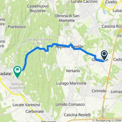 Da Via San Lorenzo 8, Guanzate a Via del Pracallo 1, Tradate