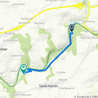 Itinéraire vers Culzubic, Saint-Hernin