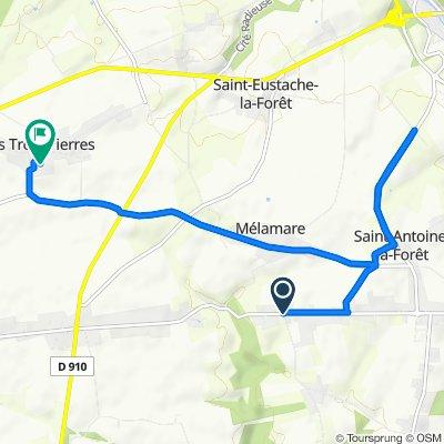 De 1469 Rue du Grand Trait, Saint-Nicolas-de-la-Taille à 13 Hameau des Belles, Mélamare