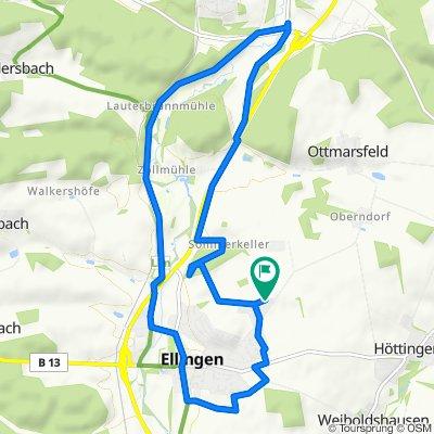 Von-Roggenbach-Straße 13, Ellingen nach Von-Roggenbach-Straße 13, Ellingen