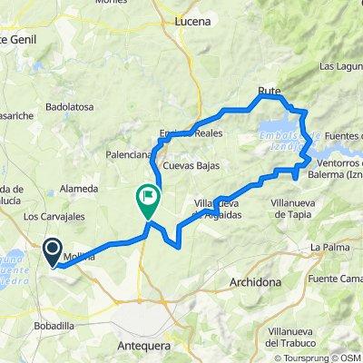 vuelta por iznajar rute + 17km